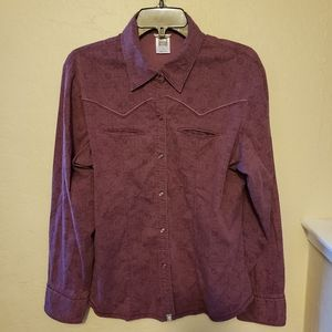 Western/Cowgirl Style Printed Shirt